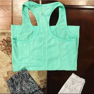 Lululemon mint green swiftly Tank